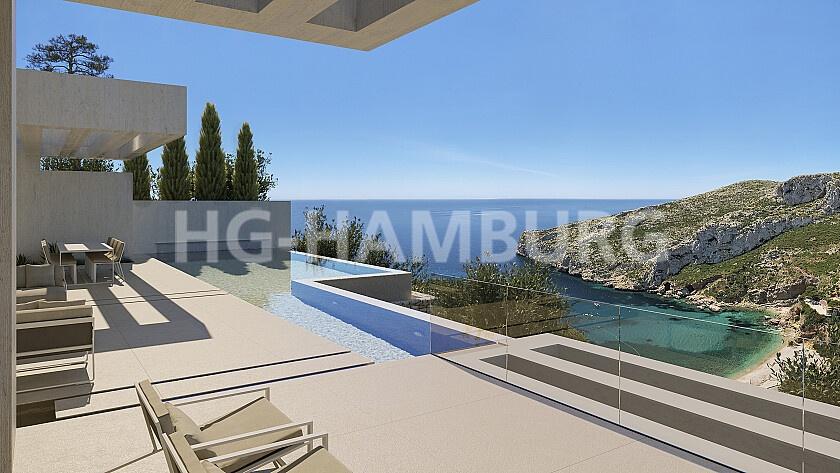 New build project in Granadella Javea with breathtaking views - HG Hamburg