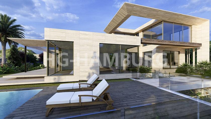 Neubau villa in Jávea im Bau - HG Hamburg